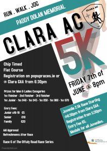 PADDY DOLAN MEMORIAL 5K, CLARA, ORRS RD. 6, 07/06/19@8pm
