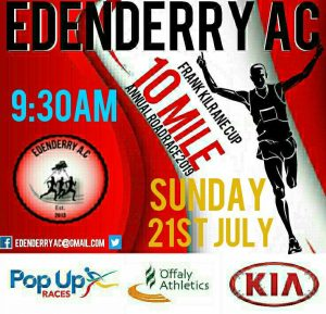 EDENDERRY 10 MILE, 21/07/19@9:30am