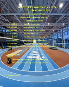 Offaly Indoors Track & Field Championships, AIT Arena, 20th Jan 2019